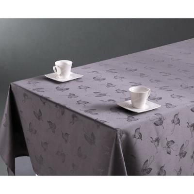 nappe anti taches grise motifs papillon 140x240cm achat vente nappe de table cdiscount. Black Bedroom Furniture Sets. Home Design Ideas