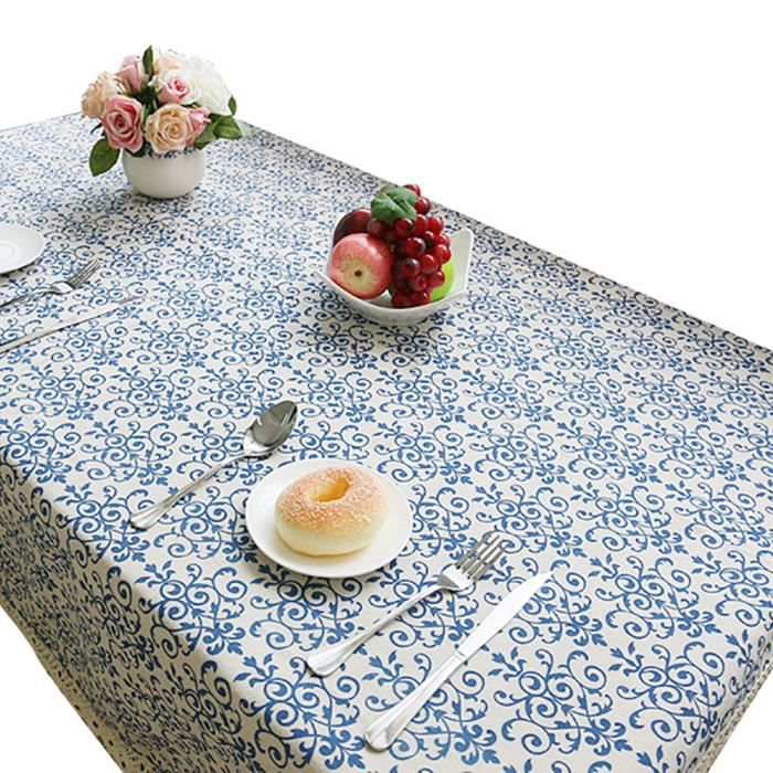 keral floral imprim nappe pour table rectangulaire d carr e nappes anti taches en lin nappe. Black Bedroom Furniture Sets. Home Design Ideas