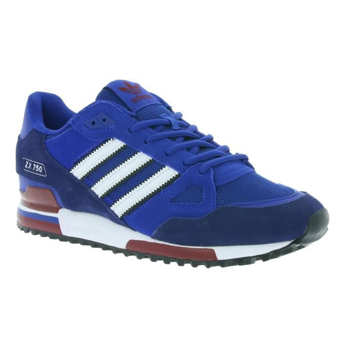 Adidas Originals ZX 750 Hommes Baskets Bleu BB1220 Bleu ...