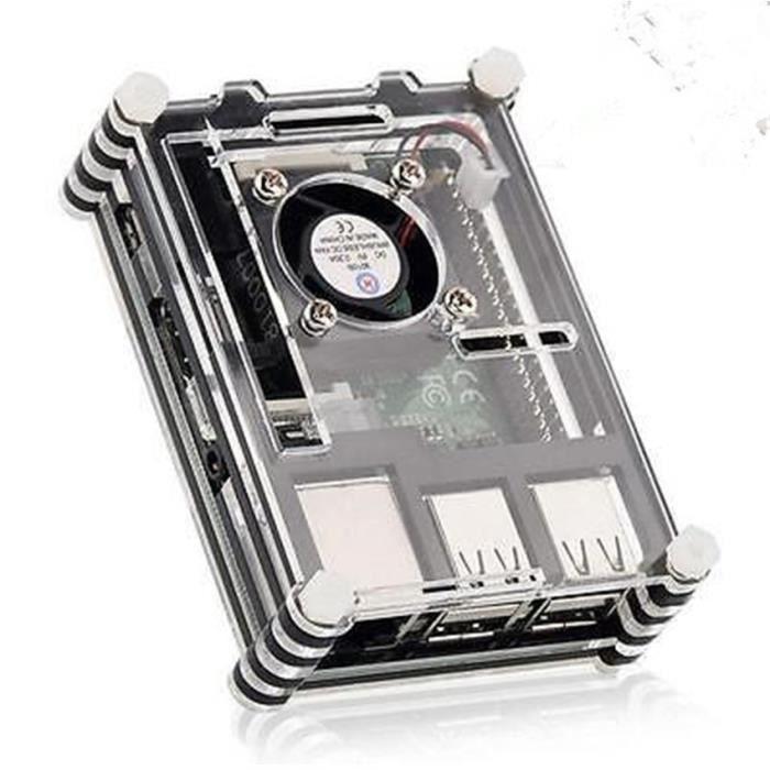 PC ASSEMBLÉ Étui avec ventilateur Nouveau RPI B + Raspberry Pi