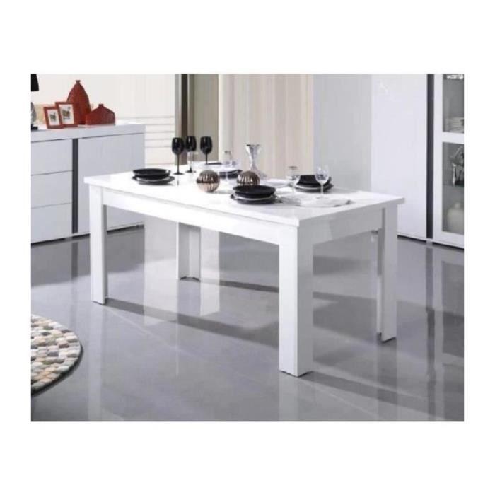Table Laque Blanche Extensible Achat Vente Pas Cher