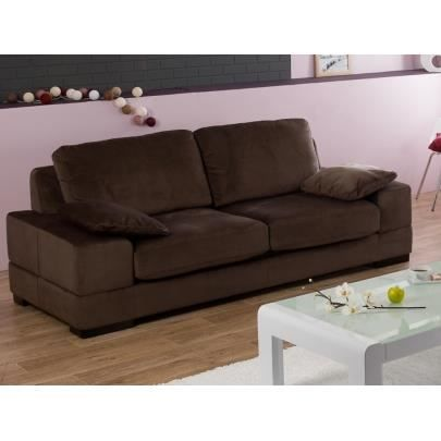 canap 3 places en microfibre raphael convertible achat vente canap sofa divan cdiscount. Black Bedroom Furniture Sets. Home Design Ideas