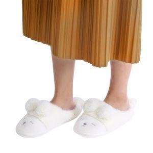 DODUMI Pantoufles Femme Soup Famille Chaussons Antid/érapant Chaud Homme Slippersm/â Amoureux lhiver Pantoufles Coton Peluche Chaud