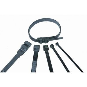 VOLTMAN Lot de 100 colliers de fixation Nylon - 260 x 9 mm - Noir