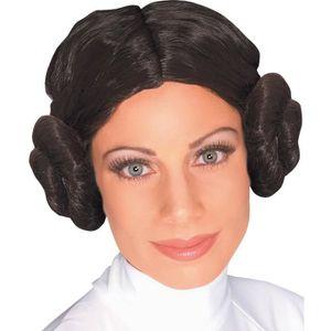 CHAPEAU - PERRUQUE Perruque Princesse Leia Star Wars femme