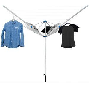 FIL À LINGE - ÉTENDOIR Séchoir à Linge Parapluie d'Extérieur en Aluminium
