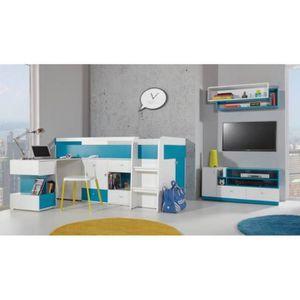 LIT COMBINE  Chambre enfant MOBI avec Lit combiné & bureau - Ch