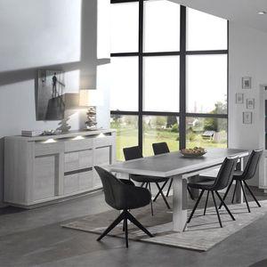SALLE À MANGER  Salle à manger moderne couleur chêne blanc et gris