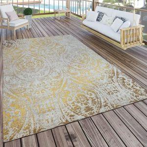 Tapis Int/érieur /& Ext/érieur Tissage /À Plat Moderne Design Jungle Palmiers en Pastel Vert Dimension:60x100 cm