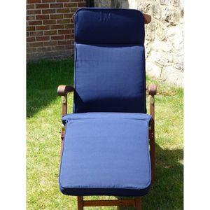 COUSSIN D'EXTÉRIEUR Chaise Steamer de meubles de jardin bleu marine UK
