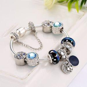 BRACELET - GOURMETTE 19CM Charms Bracelet Pandora Style à breloques en