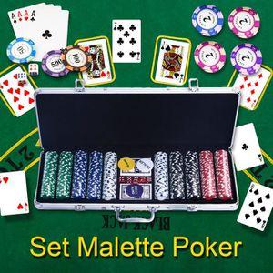 MALETTE POKER COSTWAY Malette Poker Jetons Poker Ensemble de 500