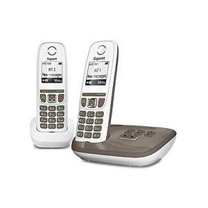 Téléphone fixe Gigaset AS470A Duo Umbra - Téléphone DECT - Répond
