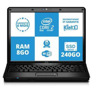 Vente PC Portable ordinateur portable 15 pouces hp 6730 intel core 2 duo 8go ram 240 go ssd disque dur w7 pas cher