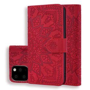 COQUE - BUMPER Coque iPhone 11,Rouge Haute qualité Cuir Premium P