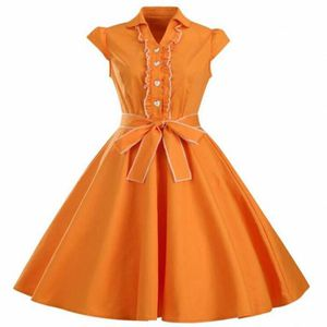 ROBE Femme Robe Vintage Années 50 Robe de Bal Polka Pin