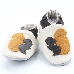 CHAUSSON - PANTOUFLE Chaussons Bébé Cuir Souple Chaussures Lapin blanc