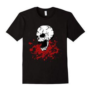T-SHIRT Crâne sanglant éclaboussé T-shirt Halloween gothiq