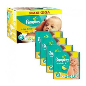 COUCHE 400 Couches Pampers New Baby Dry taille 2