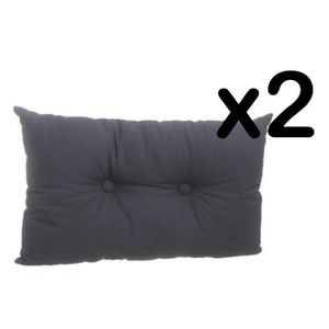 coussin gris rectangulaire achat vente coussin gris rectangulaire pas cher cdiscount. Black Bedroom Furniture Sets. Home Design Ideas