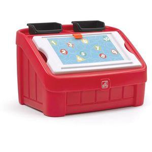 COFFRE À JOUETS STEP2 Coffret à jouet et table à dessiner - Rouge