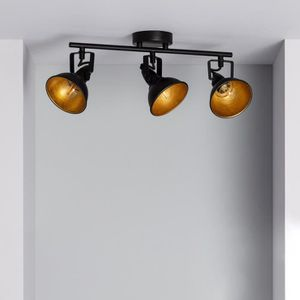 SPOTS - LIGNE DE SPOTS Lampe Plafond Orientable Emer 3 Spots Noir  Noir