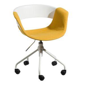 CHAISE DE BUREAU Chaise de bureau Tissu Jaune - BOOGIE - L 46 x l 4