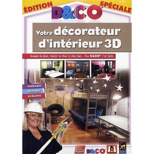 d co votre decorateur d 39 interieur 3d pc dvd rom prix pas cher cdiscount. Black Bedroom Furniture Sets. Home Design Ideas