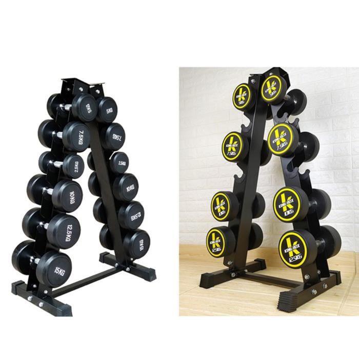 Rack de rangement pour poids et haltères en Fer Peint Support d'haltères à 6 Niveaux, Charge Max. 200 kg