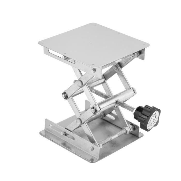 Table élévatrice de laboratoire en acier inoxydable support de levage de ciseaux de plate-forme de levage 100 * 100mm—FUT