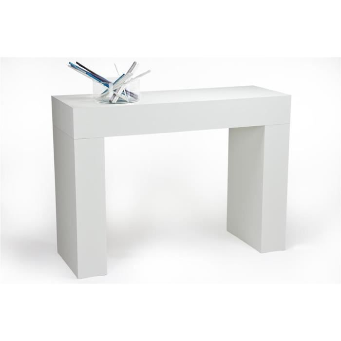 Mobili Fiver, Table console, Evolution, Frêne blanc, Mélaminé, Made in Italy