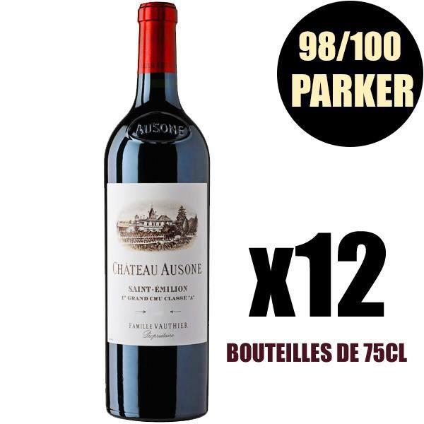 X12 Château Ausone 2009 75 cl AOC Saint-Emilion Grand Cru 1er Grand Cru Classé A Vin Rouge