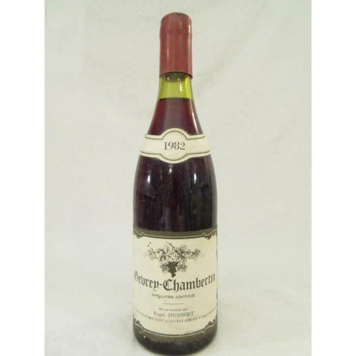 gevrey-chambertin roger humbert rouge 1982 - bourgogne france