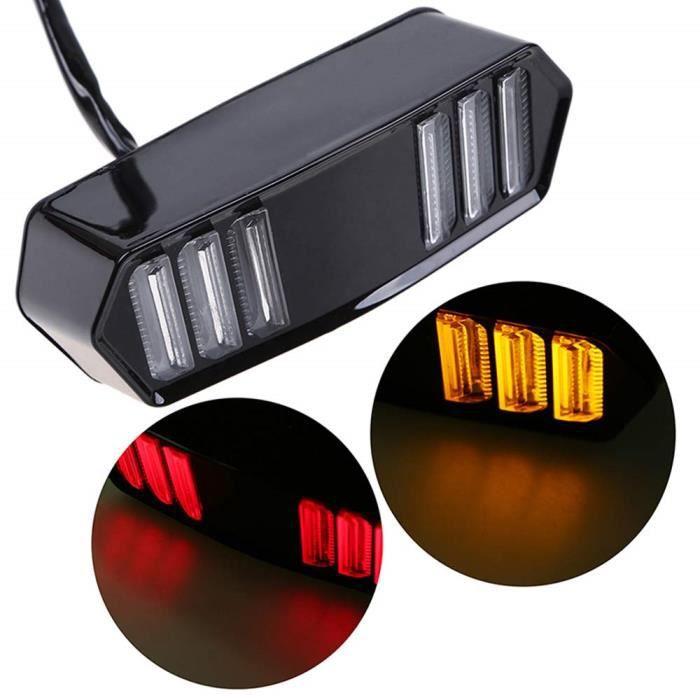 SFONIA Moto LED Feu Arrière Feu Clignotant Lumières 12V Étanche Indicateur De Tournant Lumière Universel pour MSX125 CBR650F CTX7