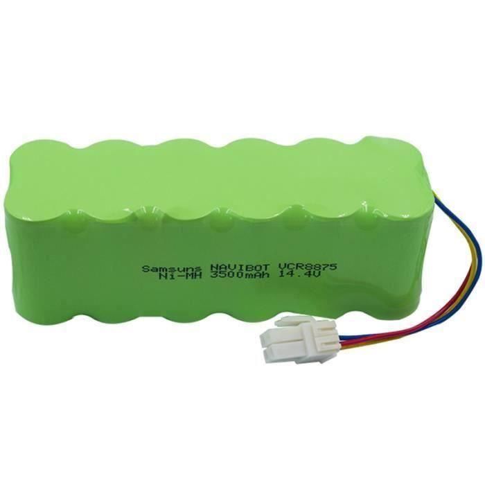 14.4V Paquet Ni-Mh de Batterie Rechargeable de Robot D'Aspirateur 3500Mah pour Samsung Navibot - S Rb8825 - 8840-8890 Ect
