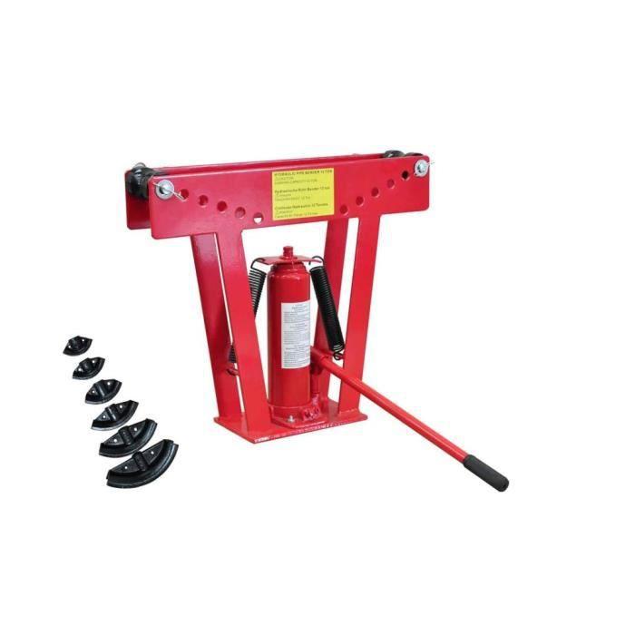 MMCZ® Cintreuse-Presse à cintrer hydraulique Professionnel 12 T + 6 matrices 61 x 16 x 51,5 cm ❤8778