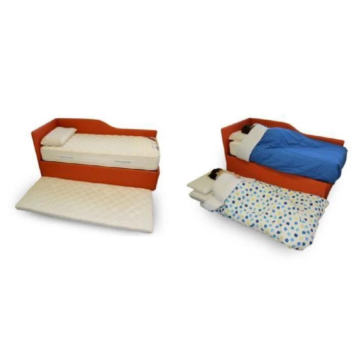 Matelas d'appoint en mousse polyuréthane lit d'appoint ou lit d'invité - Twist Bed 90x195 cm