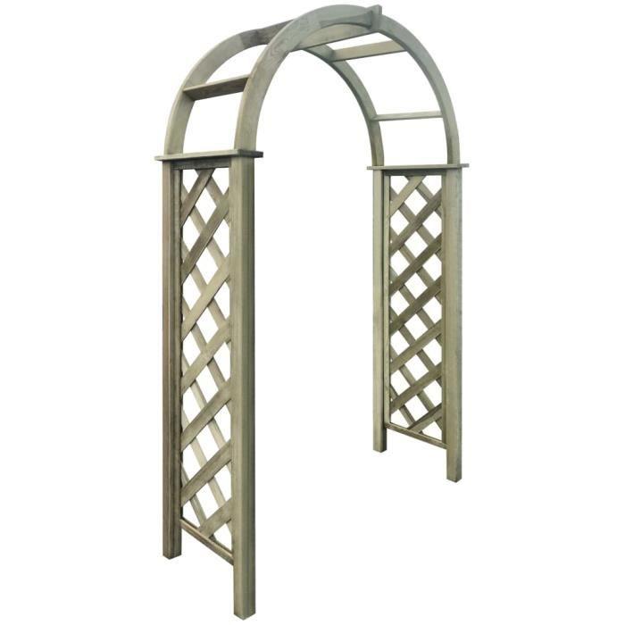 ⛺7600Mode Arches de jardin avec treillis pour Plantes Grimpantes et Rosiers Décor - Arceau de jardin Pergola à appentis - Bois de pi