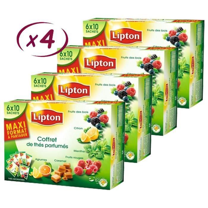 LIPTON Coffret Variety Thés Parfumés 60 Sachets