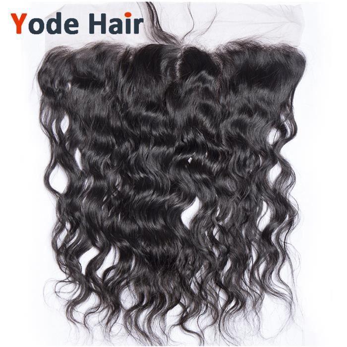 13x4 lace frontal Bresilien closure cheveux humains naturel deep wave