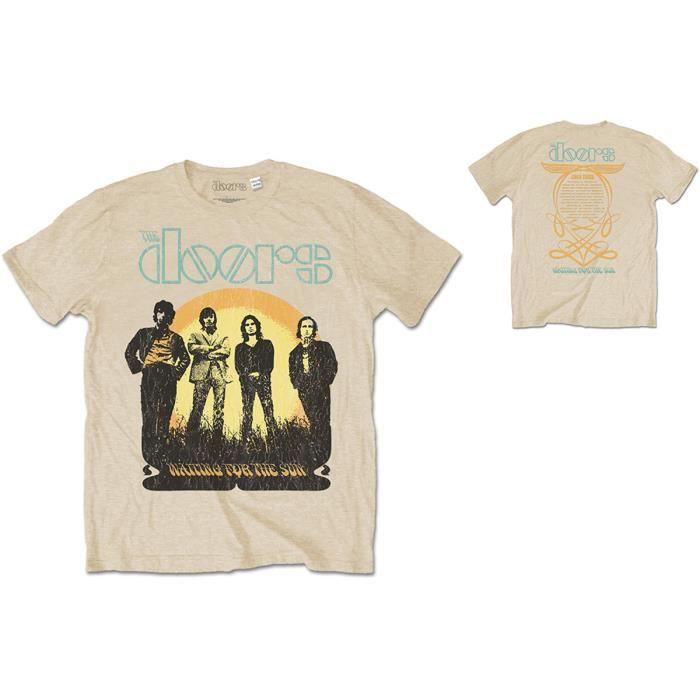 The Doors 1968 Tour Waiting for the Sun Rock officiel T-shirt Hommes unisexe