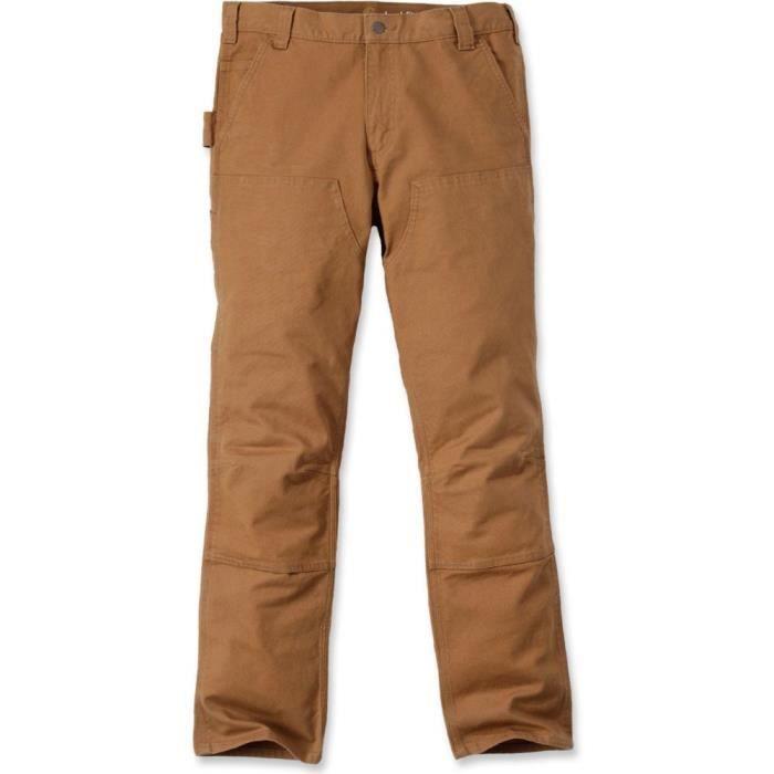 Pantalon de travail Carhartt STRETCH COTON DUCK - Marron - 40