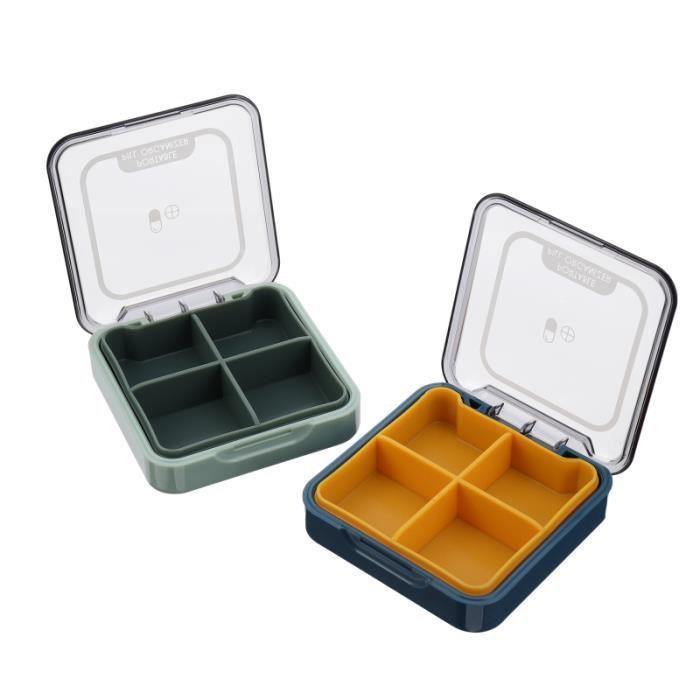 2pcs petite boîte à pilules Portable pilule organisateur carré médecine conteneur cas PILULIER