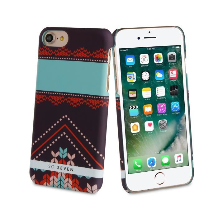 SO SEVEN Coque HIVER CANADIEN Motif PULL TRIANGLE APPLE IPHONE 7