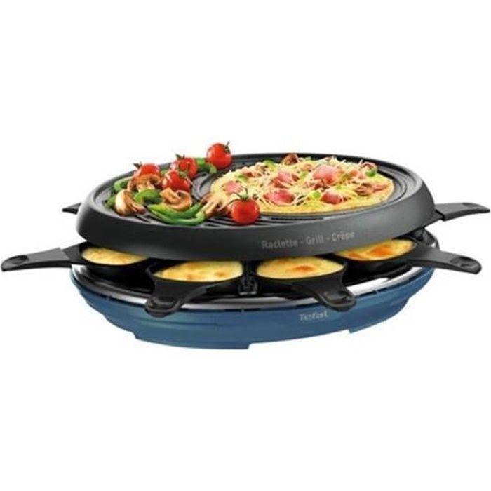 TEFAL Appareil à Raclette + Grill 8 Personnes 3 en 1 1050W