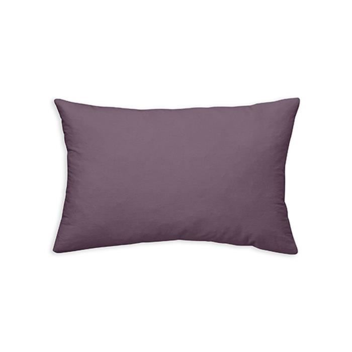 TODAY Coussin déhoussable 100% coton - 30 x 50 cm - Figue