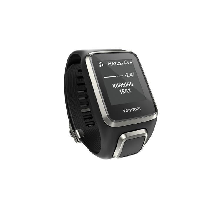 TomTom Spark Cardio + Music Édition Premium (Noir - Taille Large), Noir, 40 m, 144 x 168 pixels, 50 g, USB