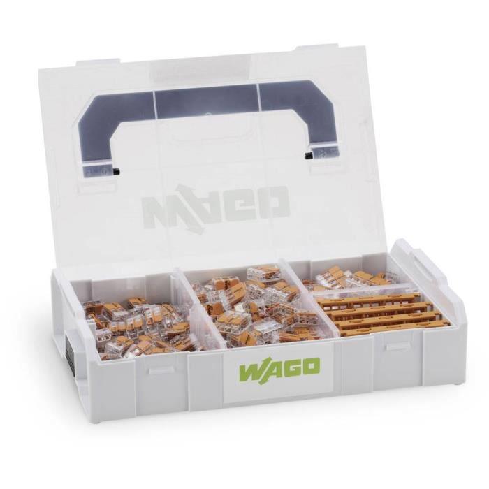 Assortiment de bornes pour boîte de dérivation 229 pièces WAGO 887-952 flexible: 0.14-4 mm² rigide: 0.2-4 mm² 1 set