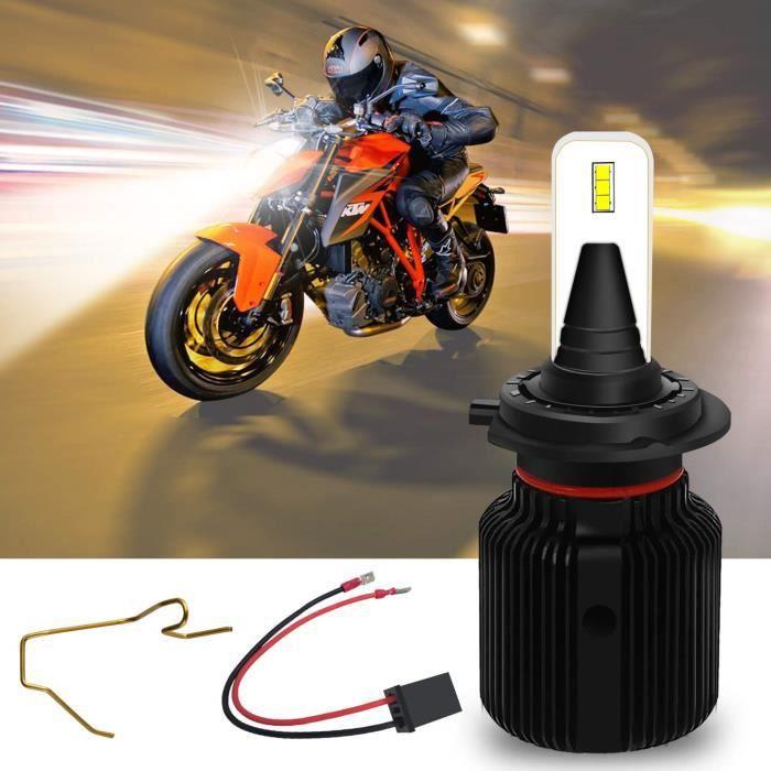 H7 LED Ampoules de Phare Moto 6500K Xénon blanc 12V Véhicule Winpower Remplacement Moto Lampes pour Suzuki Yamaha BMW Honda, Kawasak