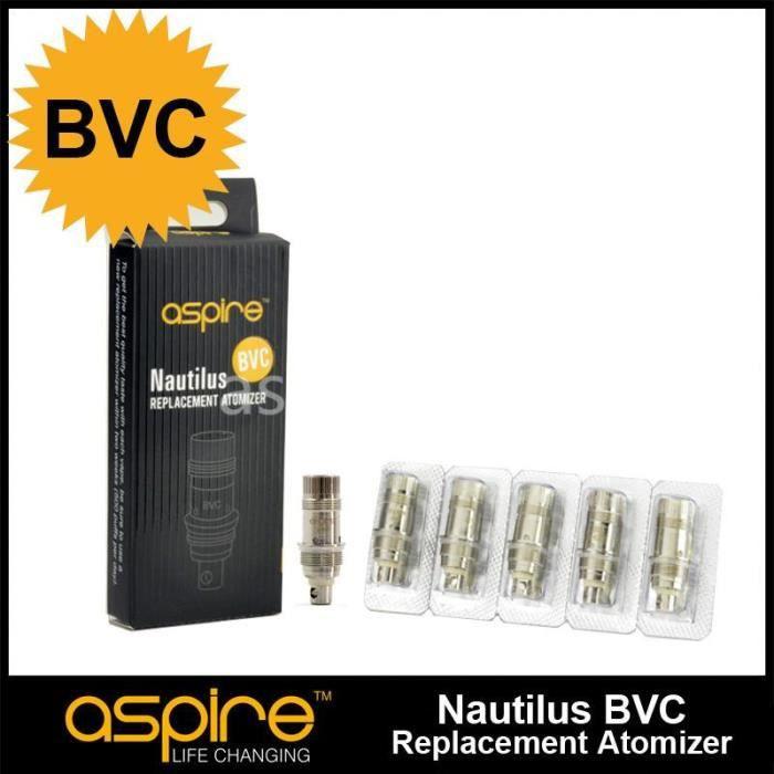 5 Résistances Coil Nautilus//Mini BVC Aspire Certifié avec Code Authenticité